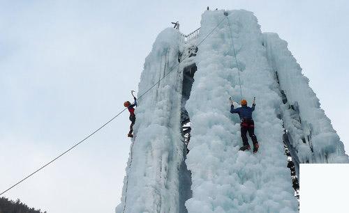 incentive cascade de glace pour entreprise séminaire montagne