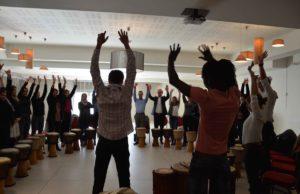 atelier percussions Team-Building