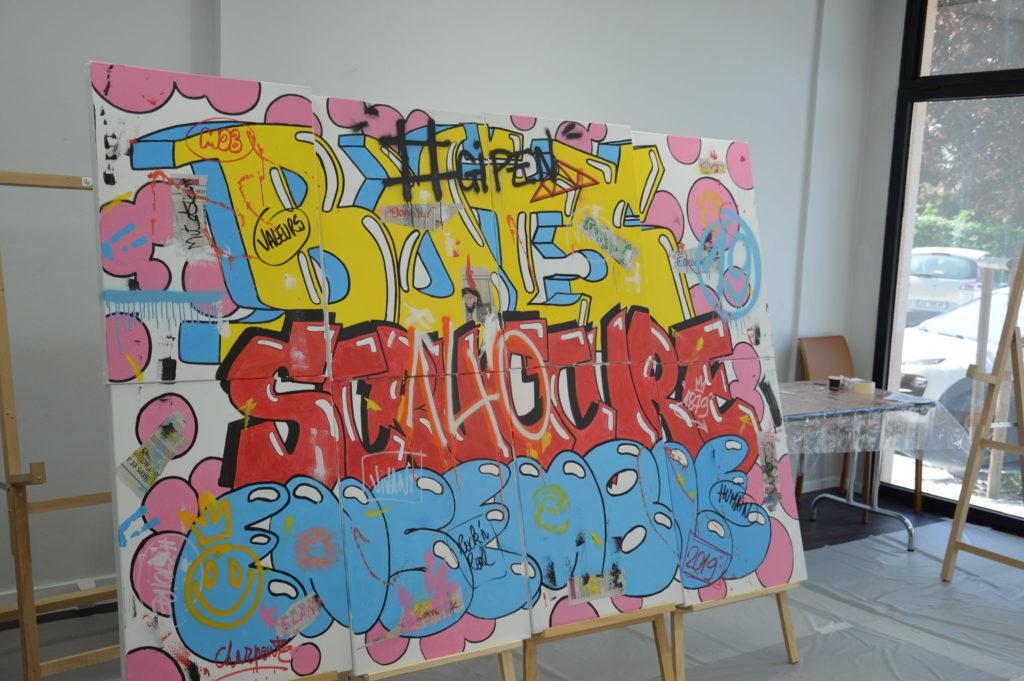 fresque street art de 3/4 - atelier street art