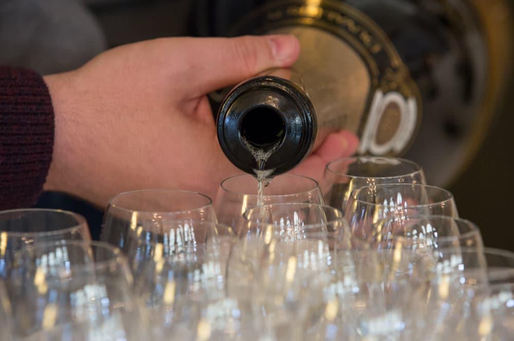accueil avec du champagne