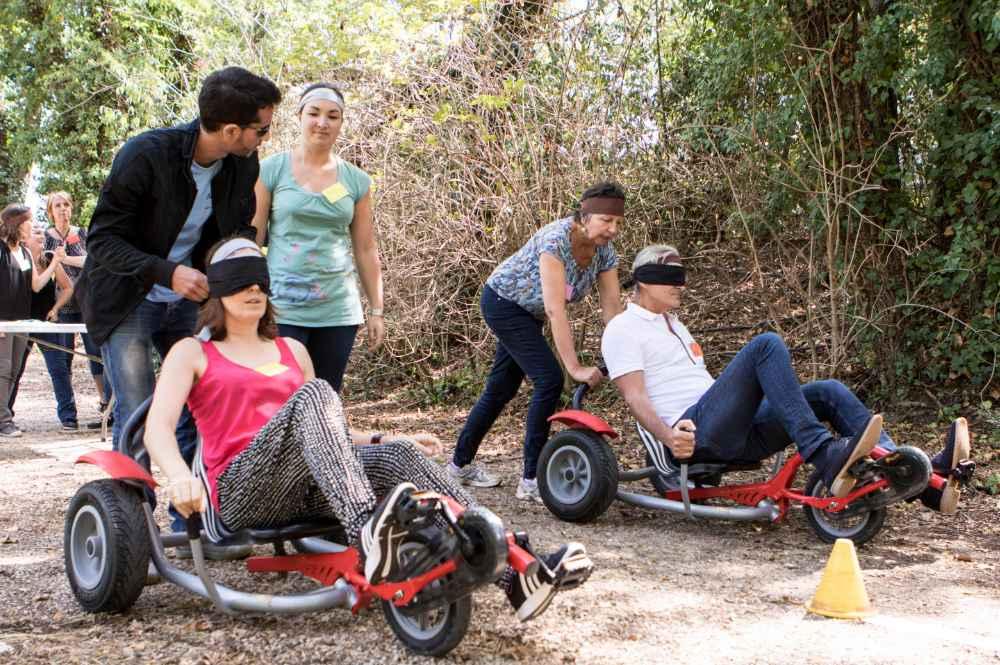 olympiades balanz-bike à l'aveugle