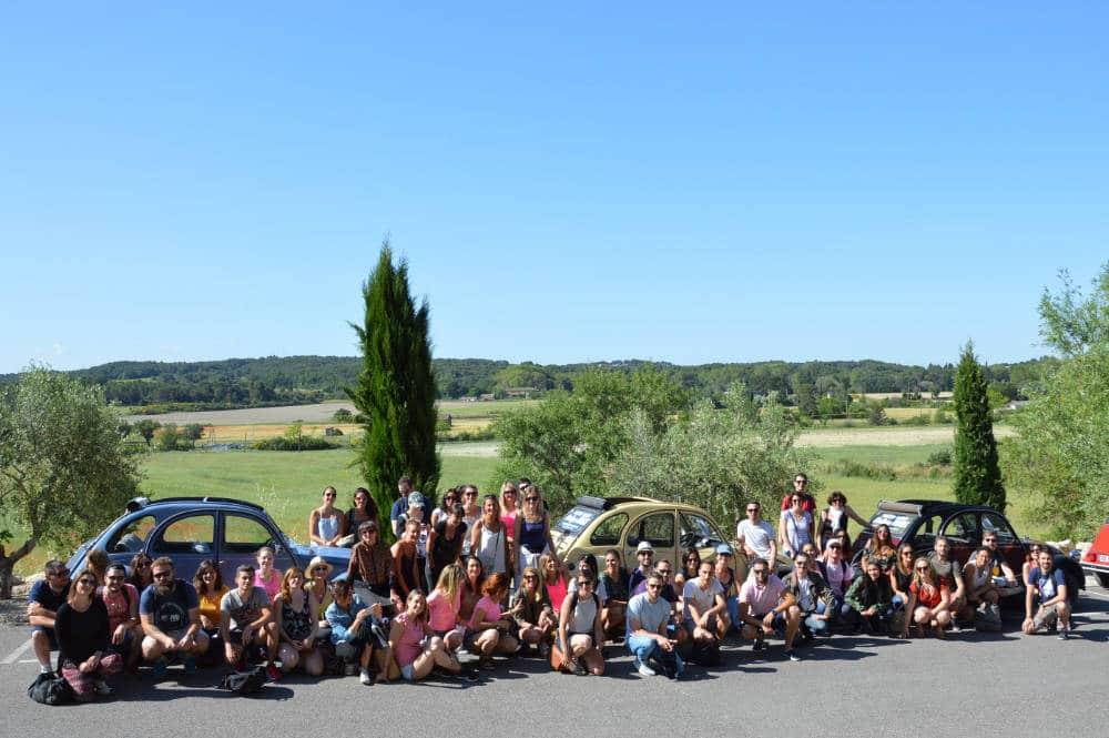 groupe d'entreprise rallye 2cv en provence