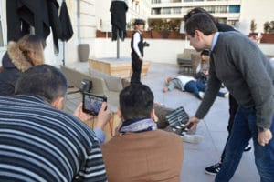 incentive cinéma muet: tournage
